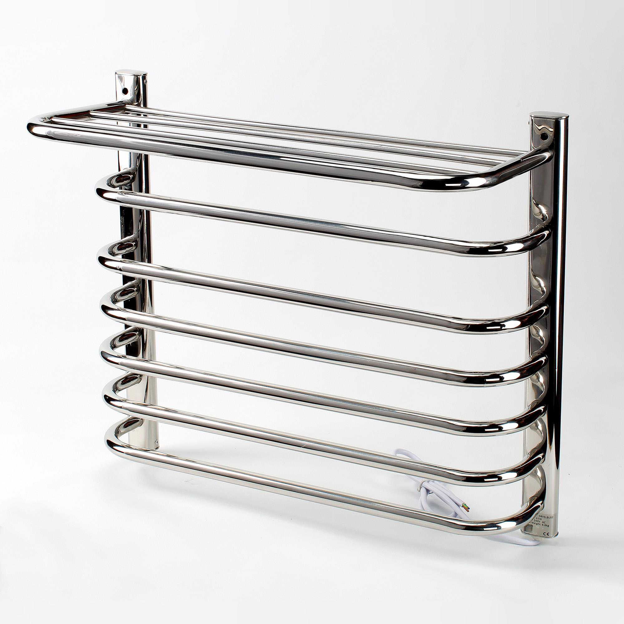 Electric Towel Rails: Chester Dry Electric Stainless Steel Towel Rail 600 X