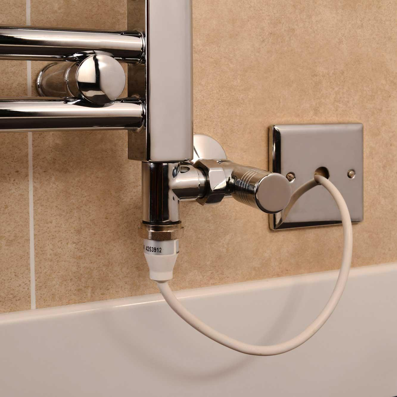 towel rail dual fuel kit 200w ptc element with chrome t. Black Bedroom Furniture Sets. Home Design Ideas