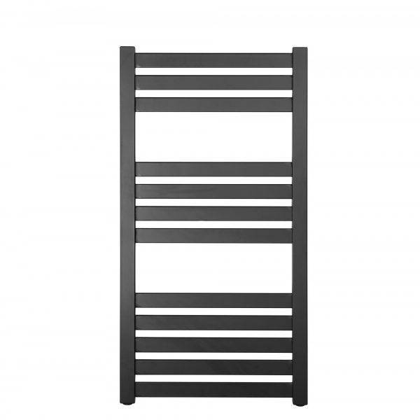 Algarve Black Central Heating Towel Rail 500x960mm