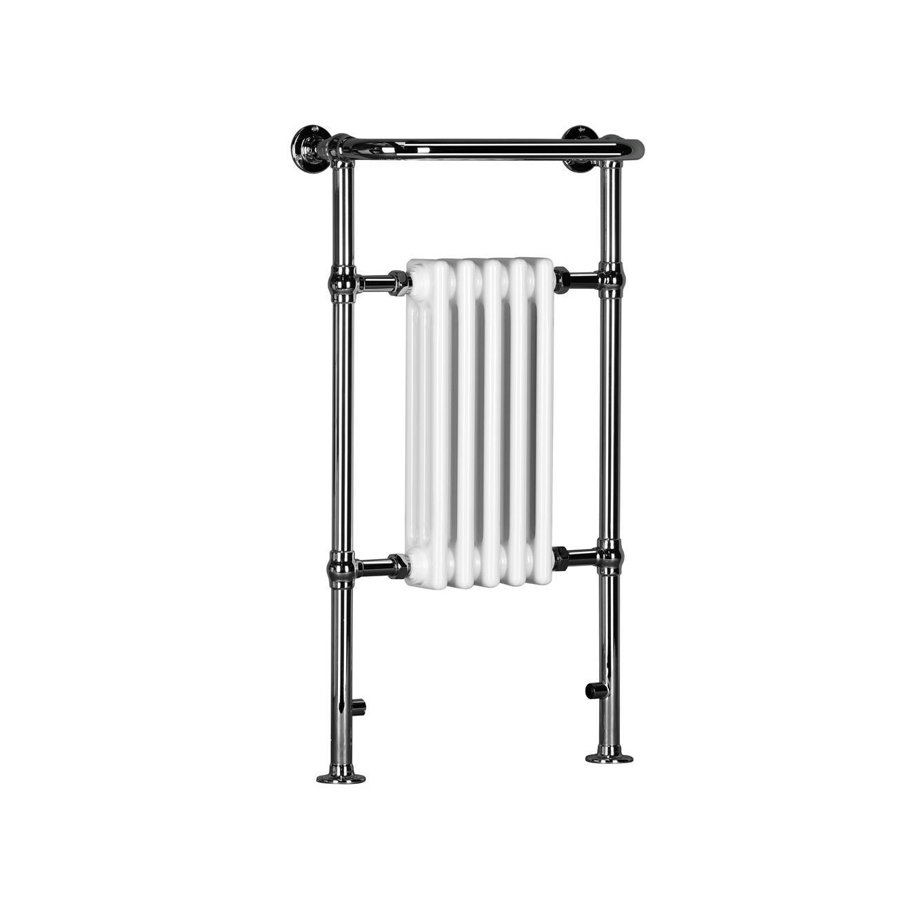 Traditional Heated Towel Rail Column Radiator White: Windsor Traditional Column Towel Radiator