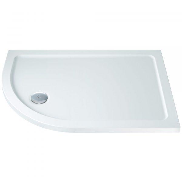 Fresssh Offset Quadrant Shower Tray LEFT 1000x800mm incl Waste