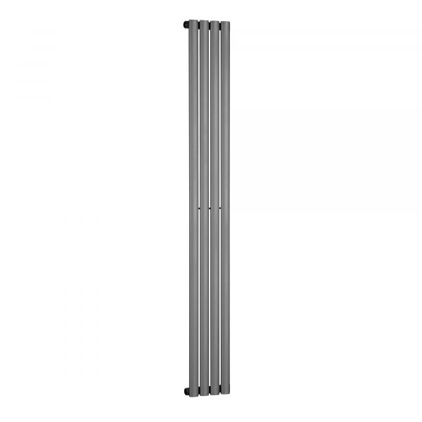 Single Panel Tall Vertical Oval Tube Anthracite Radiator 1800mm high