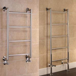 Leeds Stainless Steel Central Heating Towel Rails