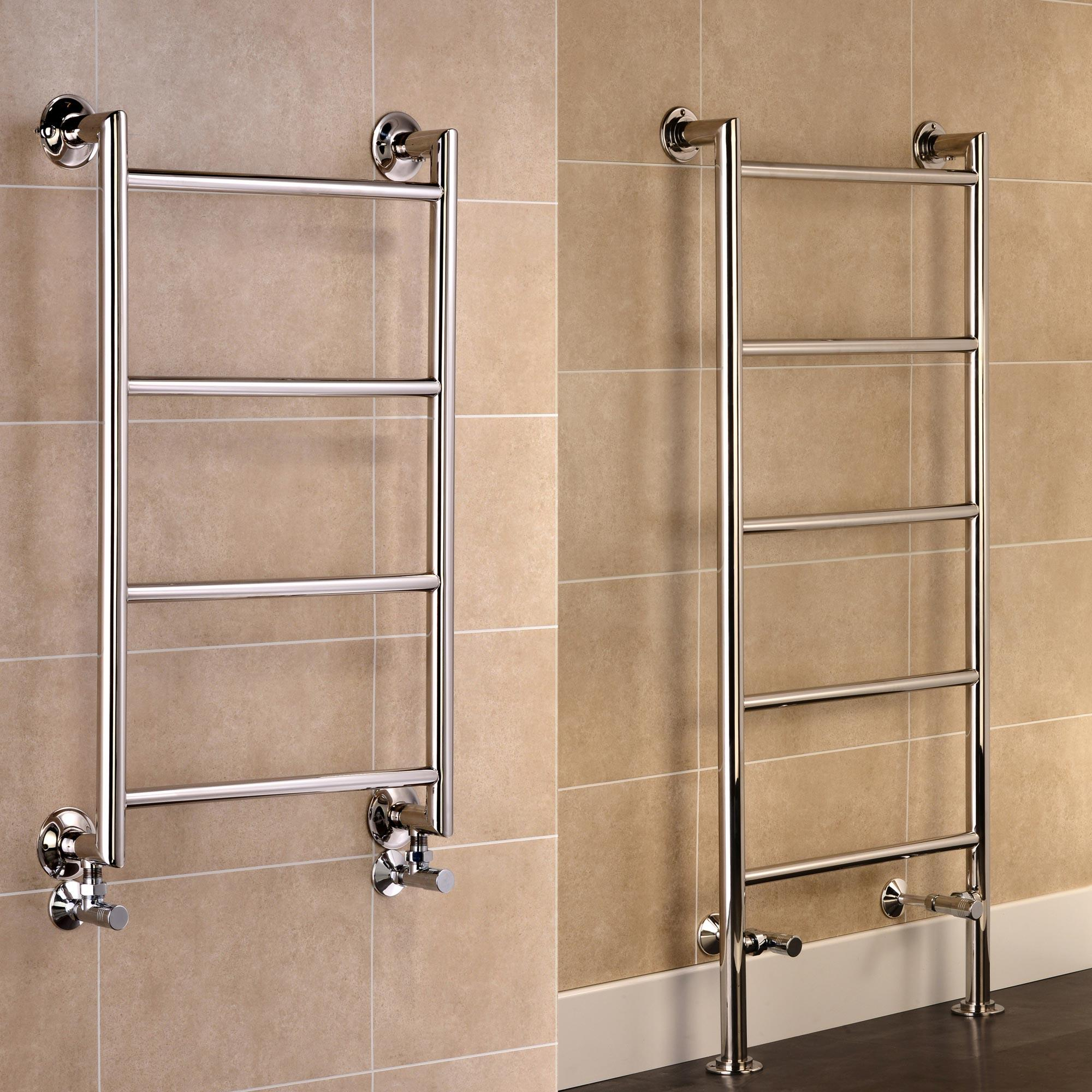 Leeds Stainless Steel Central Heating Towel Rails Heat