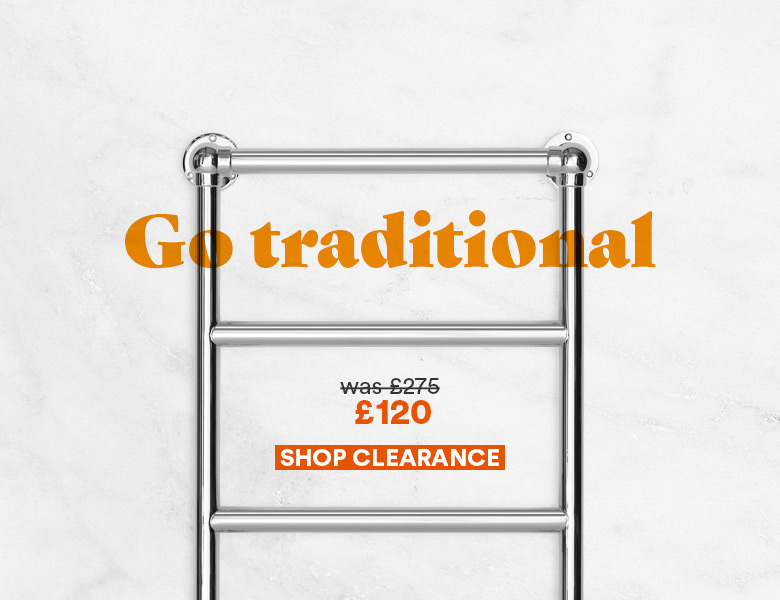 Go traditional with our Ball Jointed towel rail, now only £120