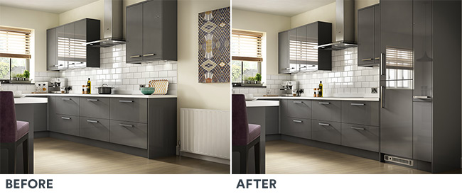 Kitchen Plinth Heaters - Before & After