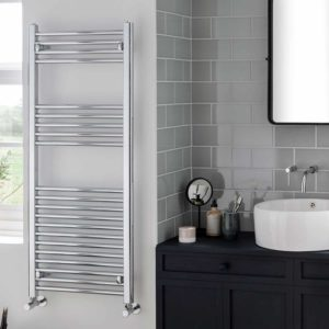 York Flat Chrome Central Heating Towel Rails