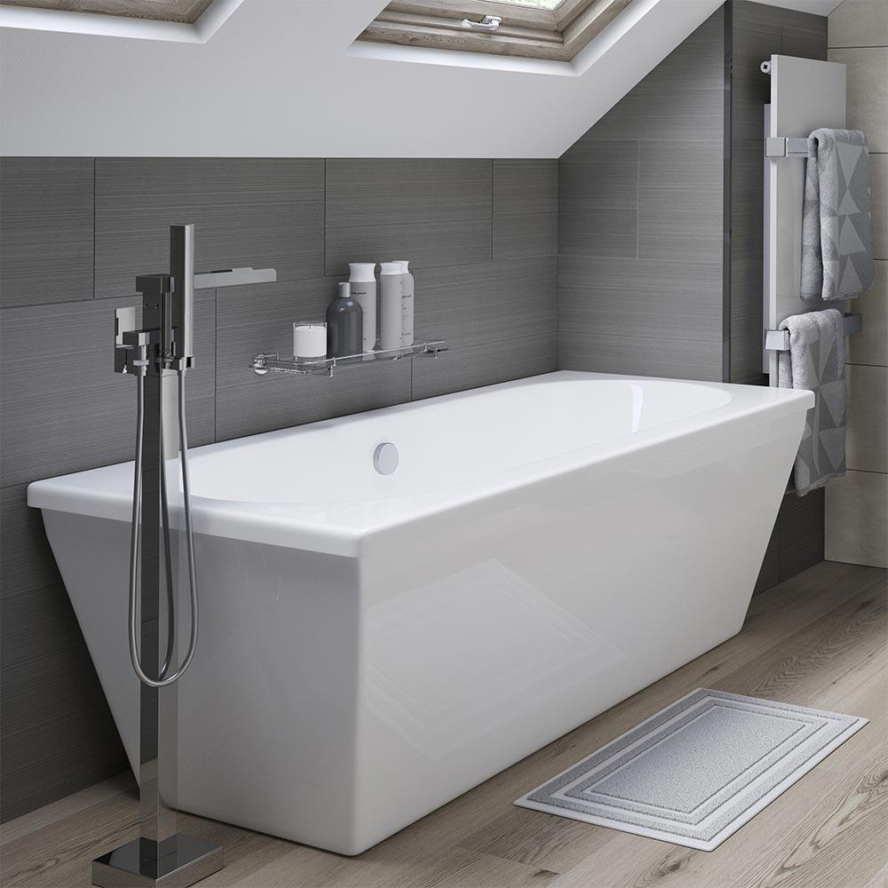 Edinburgh Freestanding Double Ended Bath 1700mm x 750mm ...
