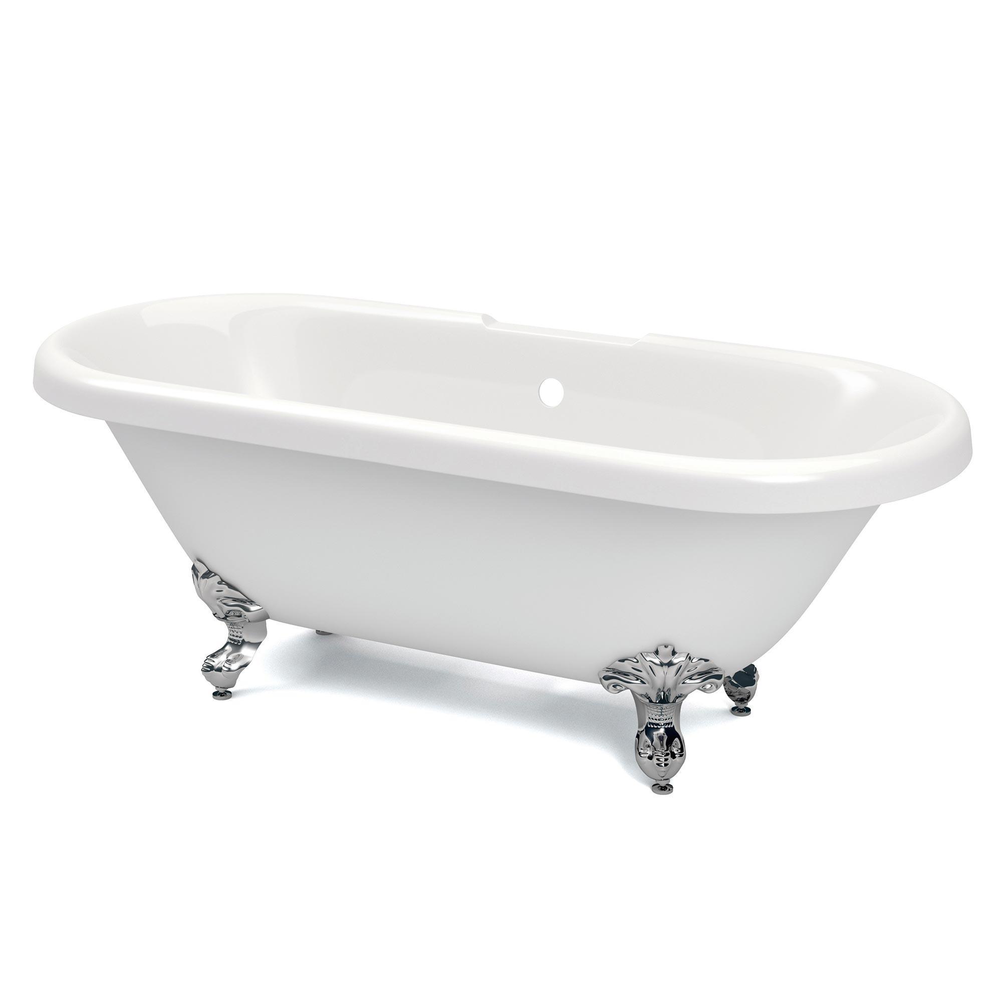 Richmond Traditional Freestanding Bath - White - Heat & Things