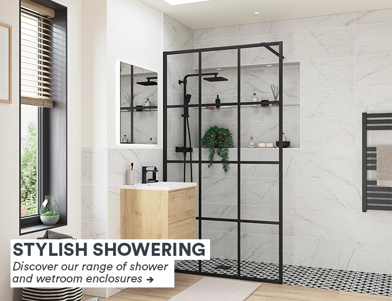 View our range of shower and wetroom enclosures