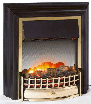 Dimplex Cheriton 2kw Freestanding flame effect Electric Wood Effect Black/Brass