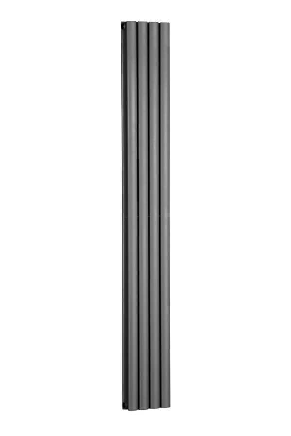 Double Panel Anthracite Vertical Flat Tube Radiator 1800 x 236 Oval Tube