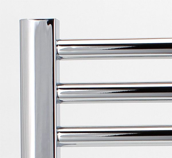 EXTRA HIGH HEAT OUTPUT CHROME ELECTRIC FLAT TOWEL RAIL + TIMER / ROOM THERMOSTAT BATHROOM HEATER ALL SIZES