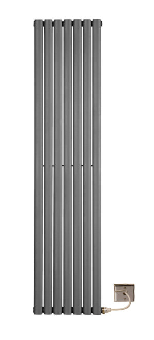 Electric oval radiators Anthracite
