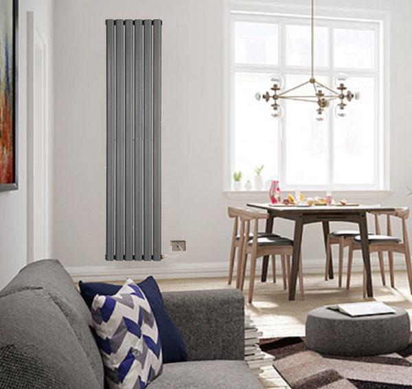 Electric oval radiators Anthracite
