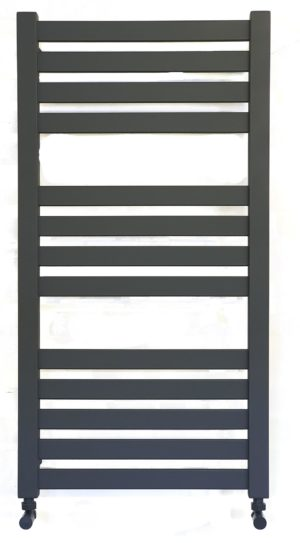 Algarve Black Designer Central Heating Towel Rails