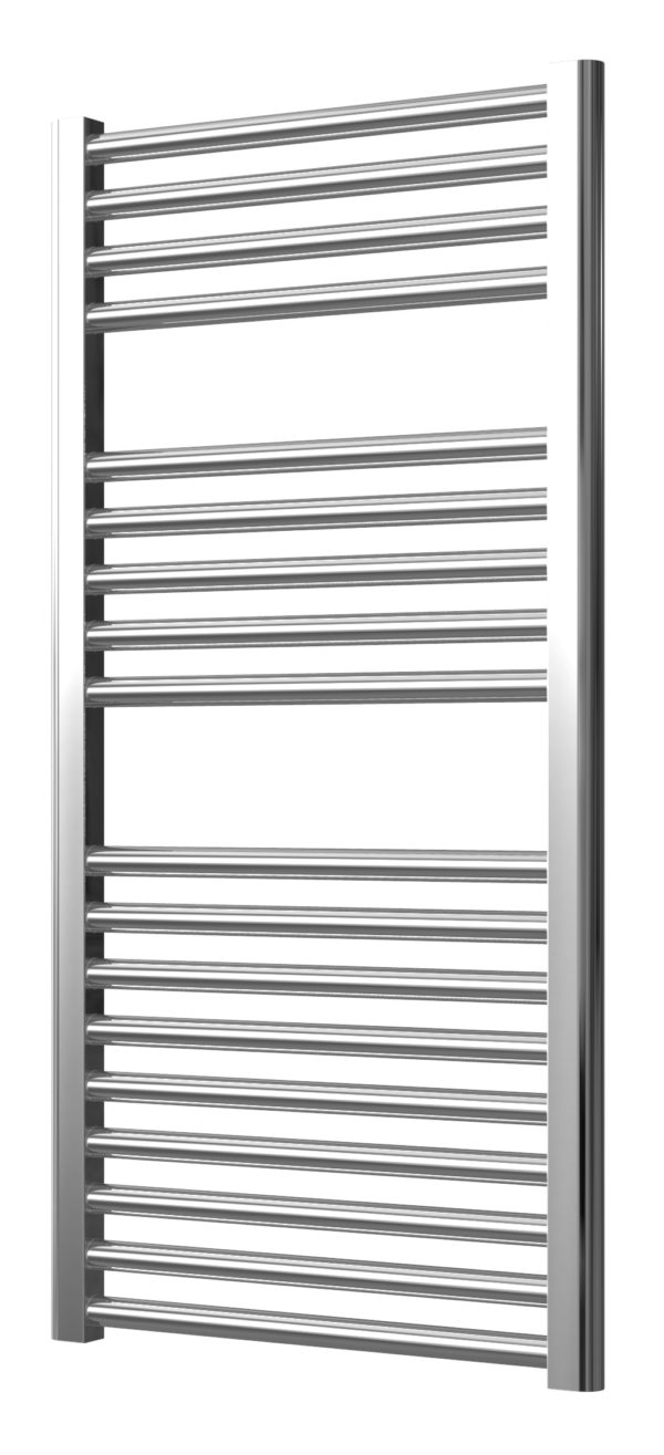 EXTRA HIGH HEAT OUTPUT CHROME ELECTRIC CURVED TOWEL RAIL + TIMER / ROOM THERMOSTAT BATHROOM HEATER ALL SIZES