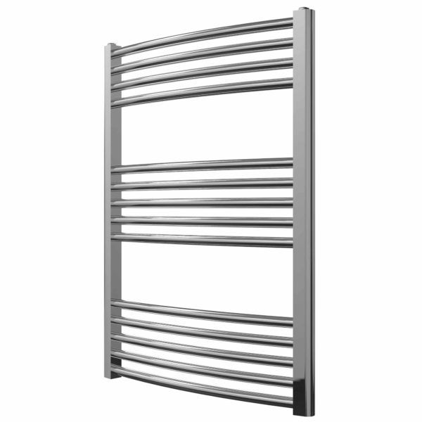 York Curved Chrome Electric Towel Rails