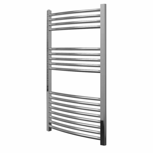 York Flat Chrome Central Heating Towel Rails