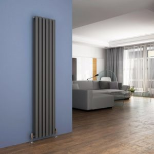 1800 High Vertical Oval Tube White Radiator