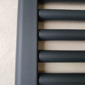 York 400 x 800mm Anthracite Electric Flat Towel Rail Bathroom Radiator