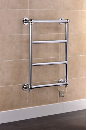 Traditional Electric Ball Jointed Chrome Plated Brass Towel Rail